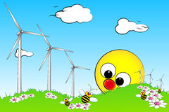 Green Energy - Kid illustration Stock Images