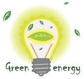 Green energy. Lamp  using  green  energy  for  light Royalty Free Stock Photos
