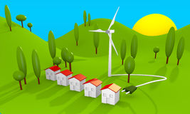 Green energy landscape Stock Photos