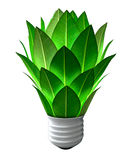 Green Energy Light Bulb Royalty Free Stock Photography
