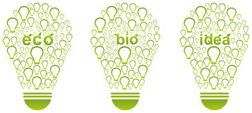 Green Energy Light Bulb Stock Images