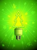 Green energy lightbulb Royalty Free Stock Photography