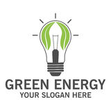 Green energy logo. Design vector eps 10 Royalty Free Stock Image