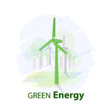 Green energy logo Royalty Free Stock Photo