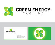 Green energy logo Royalty Free Stock Images