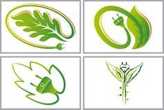 Green  energy logos Stock Photos