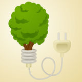 Green energy metaphor cartoon vector illustration Royalty Free Stock Images