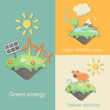 Green Energy, nature products clean drinking water Stock Images