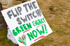 Green Energy Now- Protest Stock Image