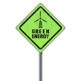 Green energy old scratched street sign. Stock Photography