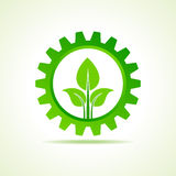 Green energy part icon design concept Stock Photography