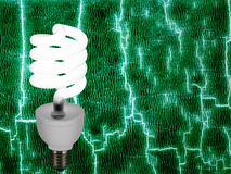 Green energy - power. Concept background. New style light bulb on abstract background royalty free stock image