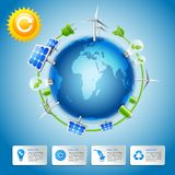 Green energy and power concept Royalty Free Stock Photography