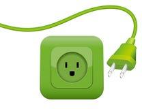 Green Energy Power Plug Socket Royalty Free Illustration