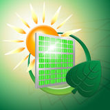 Green Energy Represents Power Source And Electric Royalty Free Stock Images