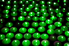 Green energy. Save the planet. Soft background image of candles Stock Images
