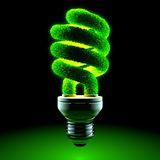 Green energy-saving lamp Royalty Free Stock Photos