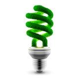 Green energy-saving lamp Stock Photos