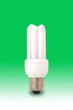 Green Energy Saving Light Bulb Stock Image