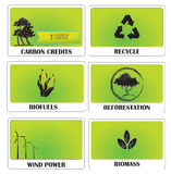 Green energy. Set of templates showing ideas of green energy Stock Photography