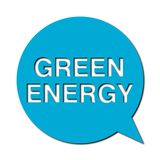 Green energy with shadow, Speech Bubble. Speech Bubbles green energy with shadow, vector icon Stock Photos