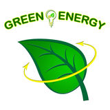 Green Energy Shows Power Source And Ecological Stock Photo