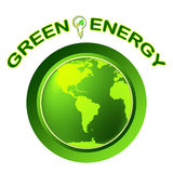 Green Energy Shows Solar Power And Eco Royalty Free Stock Photos