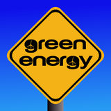 Green energy sign Royalty Free Stock Image