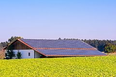 Green Energy with Solar Collectors stock photography