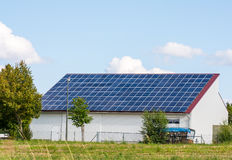 Green Energy with Solar Collectors Stock Image