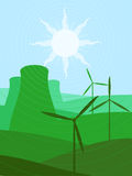 Green energy sources Royalty Free Stock Photo