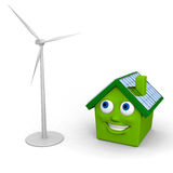 Green energy sources Stock Images