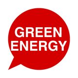 Green energy, Speech Bubbles. Speech Bubbles green energy, vector icon Royalty Free Stock Photography