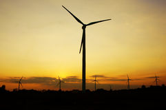 Green energy supply, wind turbine Stock Images