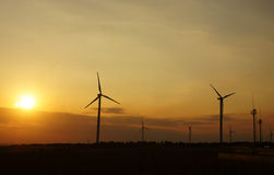 Green energy supply, wind turbine Stock Image