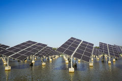 Green energy and sustainable development of solar energy Royalty Free Stock Photography