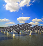 Green energy and sustainable development of solar energy Royalty Free Stock Image