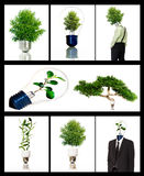 Green energy symbols. Collection of green energy symbols Royalty Free Stock Photography