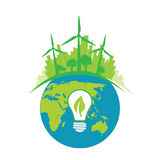 Green energy tech eco environment friendly technology Stock Images