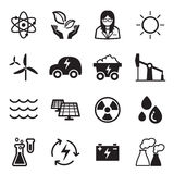 Green energy technology icons Royalty Free Stock Photography
