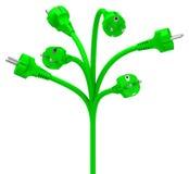 Green energy tree Royalty Free Stock Image