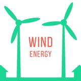 Green energy with two wind motors Royalty Free Stock Photos