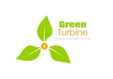 Green energy vector logo Stock Images