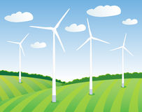Green energy of the wind Stock Photography