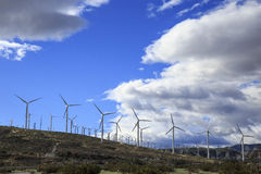 Green energy. Wind farm producing Green Energy on California desert Royalty Free Stock Image