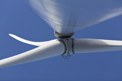 Green energy. A wind powered power supply based on wind Royalty Free Stock Photography