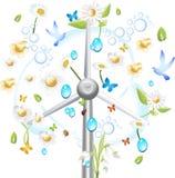 Green energy wind turbine Stock Photo