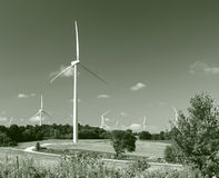 Green Energy Wind Turbines Stock Photos