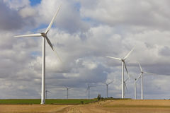 Green Energy Wind Turbines Royalty Free Stock Photo