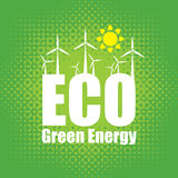 Green energy with wind turbines Stock Photography
